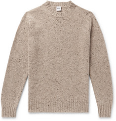 Aspesi  Mélange Slub Wool Sweater