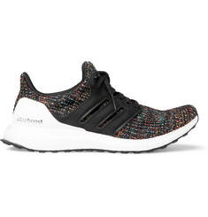 Ultraboost Rubber-trimmed Primeknit Running Sneakers - Black