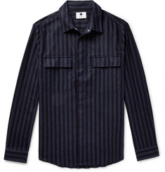NN07 Striped Cotton Overshirt