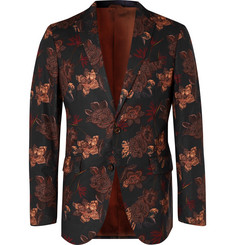 Etro Slim-Fit Floral-Print Cotton-Blend Blazer