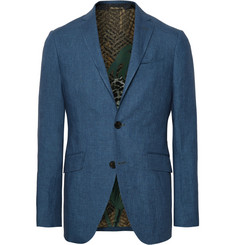 Etro - Storm-Blue Linen Suit Jacket
