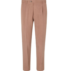 Etro - Slim-Fit Pleated Lyocell-Blend Trousers