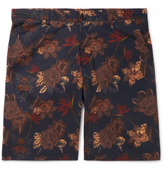 Etro Printed Stretch-Cotton Shorts