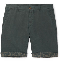 Etro Tapered Linen Bermuda Shorts