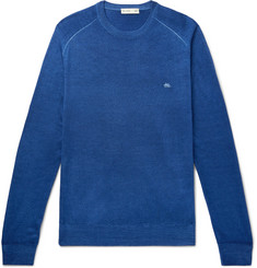 Etro - Garment-Dyed Merino Wool Sweater
