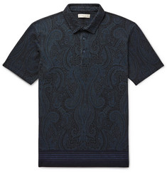 Etro Paisley-Print Cotton-Piqué Polo Shirt