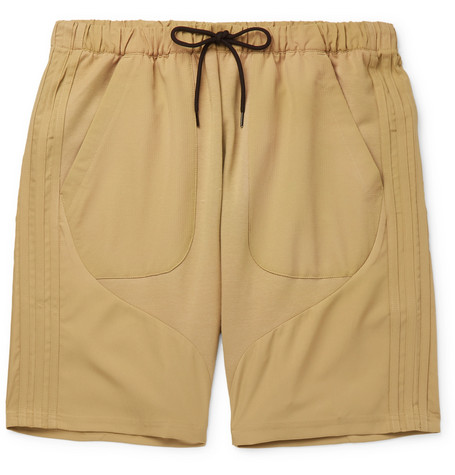 Cotton Blend Jersey And Ripstop Drawstring Shorts by Adidas Originals