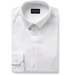 Giorgio Armani White Cotton-Jersey Shirt