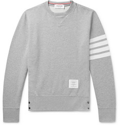 c684de9cfe9c Thom Browne Slim-Fit Striped Loopback Cotton-Jersey Sweatshirt