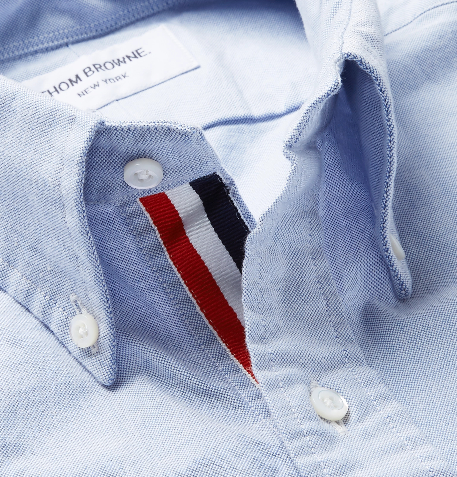 b1dd6a3bd090 Thom BrowneSlim-Fit Button-Down Collar Grosgrain-Trimmed Cotton Oxford Shirt
