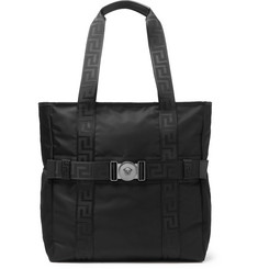 Versace Logo-Detailed Nylon Tote Bag
