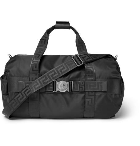733edc21ef Versace - Logo-Embellished Nylon Duffle Bag