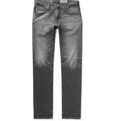 AG Jeans Tellis Slim-Fit Distressed Stretch-Denim Jeans