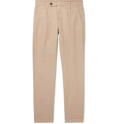 Massimo Alba - Pleated Linen and Cotton-Blend Trousers