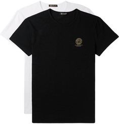 Versace Two-Pack Slim-Fit Stretch-Cotton Jersey T-Shirts
