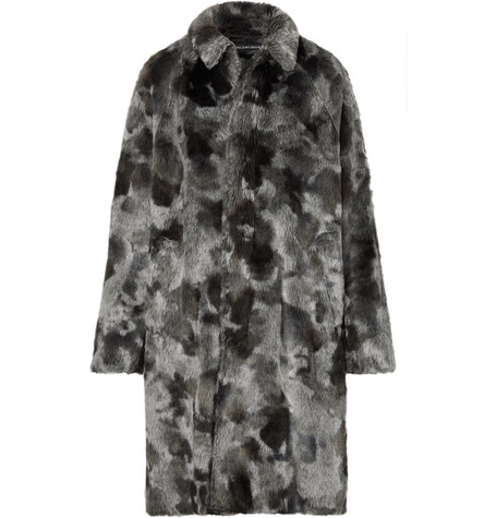 Oversized Faux Fur Coat by Balenciaga