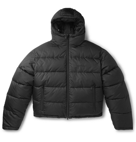 Slim Fit Quilted Ripstop Hooded Jacket by Balenciaga