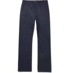 Balenciaga Navy Cotton-Twill Trousers