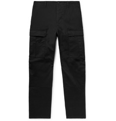Balenciaga Black Cropped Slim-Fit Cotton-Twill Cargo Trousers
