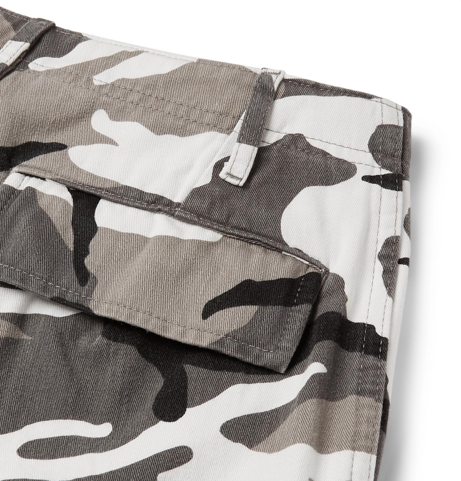 0c6d521d2b4c Balenciaga - Slim-Fit Camouflage-Print Cotton-Twill Cargo Trousers