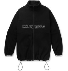 Balenciaga Oversized Logo-Embroidered Virgin Wool Jacket