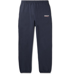 Balenciaga Logo-Print Loopback Cotton-Jersey Sweatpants