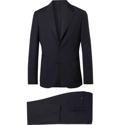 Z Zegna - Midnight-Blue Slim-Fit Wash & Go TECHMERINO Wool Suit