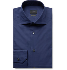 Ermenegildo Zegna Navy Cotton-Poplin Shirt