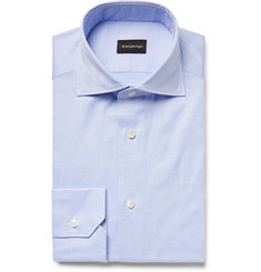 Ermenegildo Zegna Blue Cotton Oxford Shirt