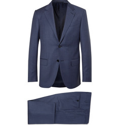 Ermenegildo Zegna Navy Milano Easy Slim-Fit Wool Suit