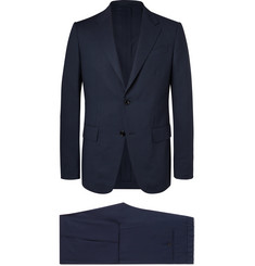 Ermenegildo Zegna Navy Packaway Slim-Fit Wool Suit