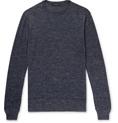 Ermenegildo Zegna Slim-Fit Melange Cashmere, Silk and Linen-Blend Sweater