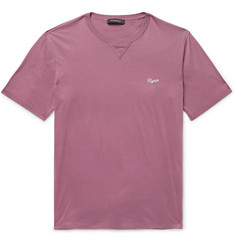Ermenegildo Zegna Logo-Embroidered Cotton-Jersey T-Shirt