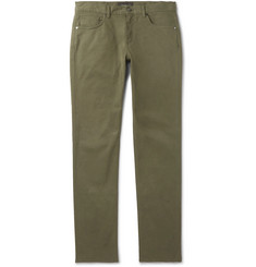 Ermenegildo Zegna Slim-Fit Garment-Dyed Cotton-Blend Trousers