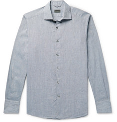 Ermenegildo Zegna Puppytooth Cotton Shirt