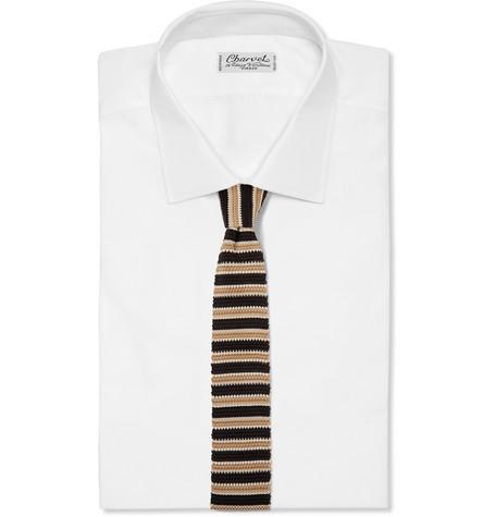 6cm Striped Knitted Silk Tie by Ermenegildo Zegna