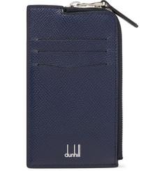 Cadogan Full-grain Leather Zip-around Cardholder - Navy