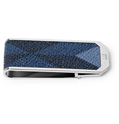 Dunhill - Cadogan Printed Pebble-Grain Leather Silver-Tone Money Clip