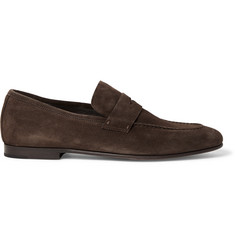 Chiltern Suede Penny Loafers - Dark brown