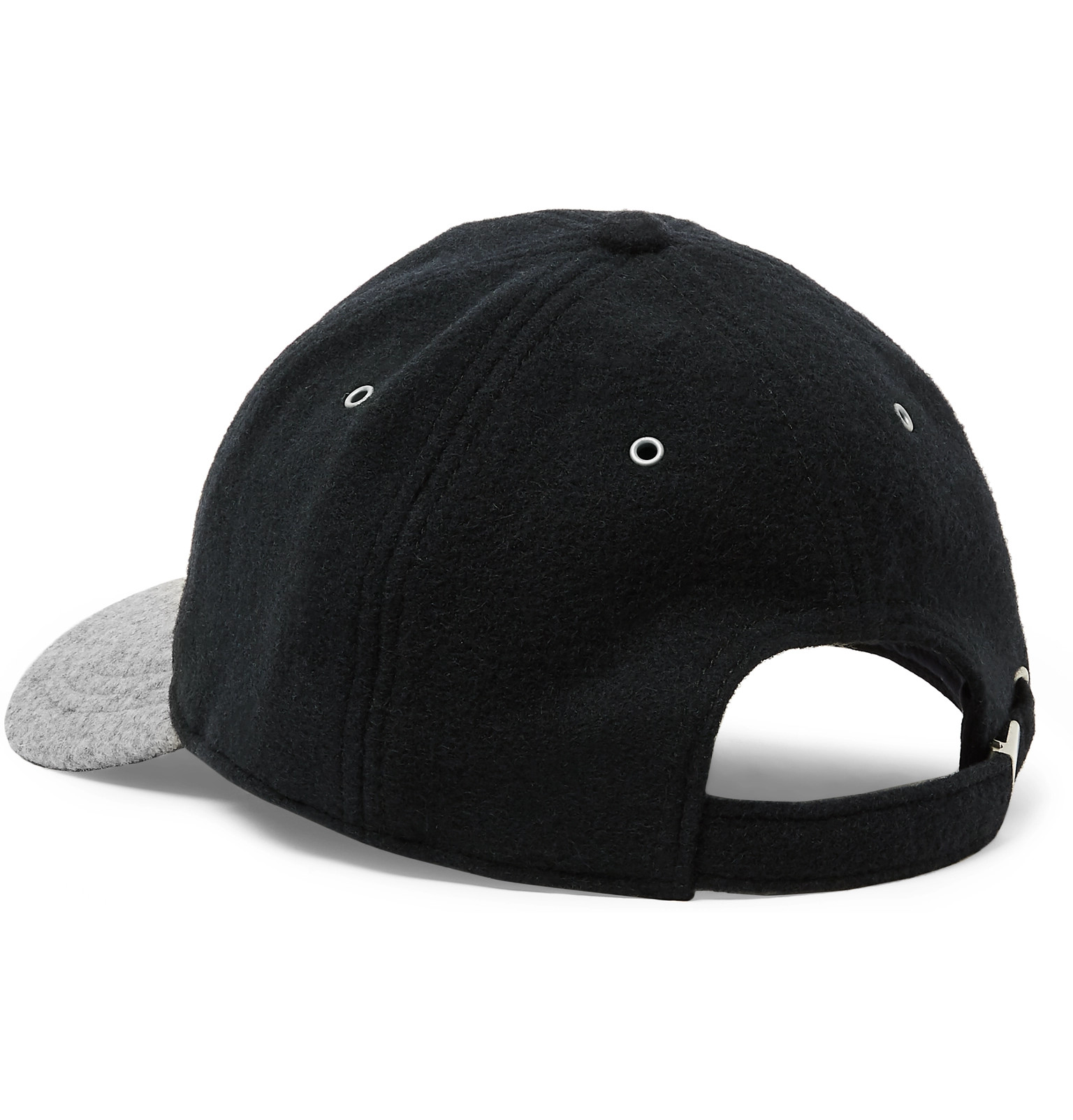 cff849b45e942 J.Crew - Two-Tone Melton Wool-Blend Baseball Cap
