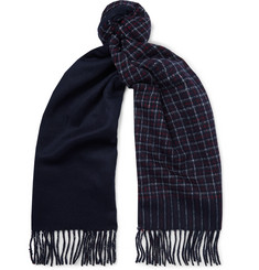 J.Crew - Fringed Checked Cashmere Scarf