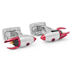 Deakin & Francis Rocket Silver-Tone and Enamel Cufflinks