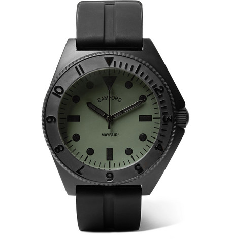 Mayfair Stainless Steel And Rubber Watch