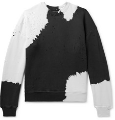 AMIRI Oversized Distressed Tie-Dyed Loopback Cotton-Jersey Sweatshirt