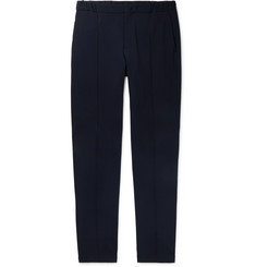 Giorgio Armani Navy Tapered Stretch-Knit Trousers