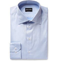 Giorgio Armani Light-Blue Cotton-Twill Shirt