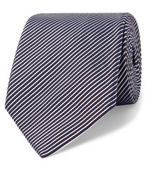 Giorgio Armani 8cm Striped Cotton and Silk-Blend Tie