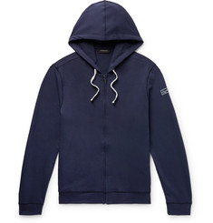 Ermenegildo Zegna Loopback Stretch-Cotton Jersey Zip-Up Hoodie
