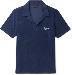 Ermenegildo Zegna Logo-Embroidered Cotton-Terry Polo Shirt