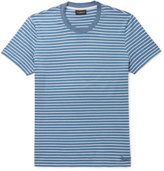 Ermenegildo Zegna Slim-Fit Striped Cotton-Piqué T-Shirt